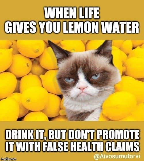 Sitruunavesi - ihmeaine vai huuhaata?